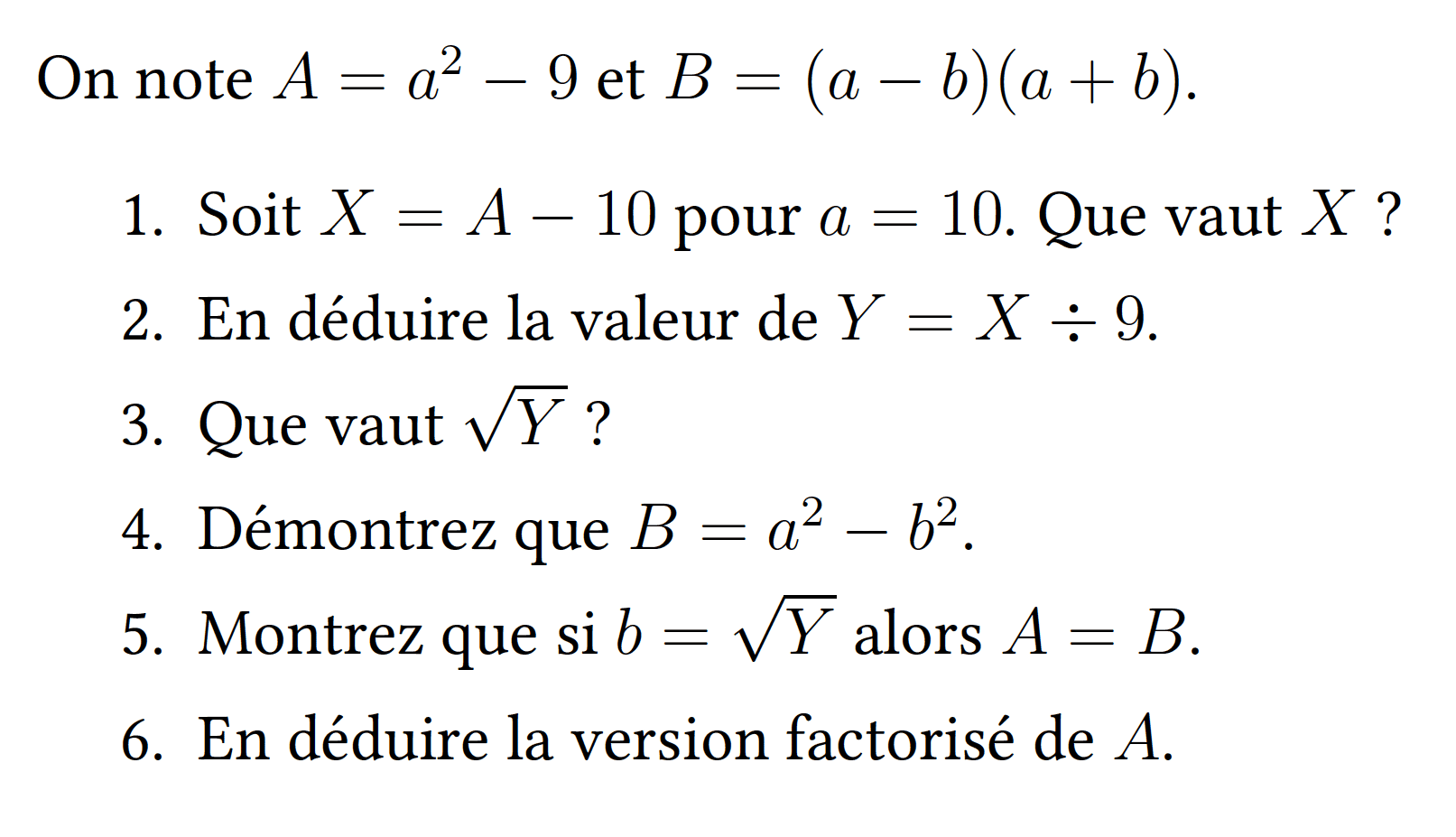 Un exercice de maths illustrant la méthode JUS
