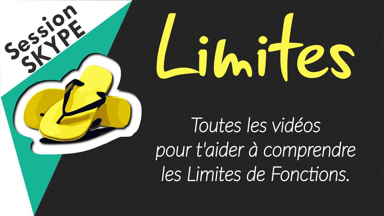 Vidéos de Maths - Vidéos sur les Limites de Fonctions