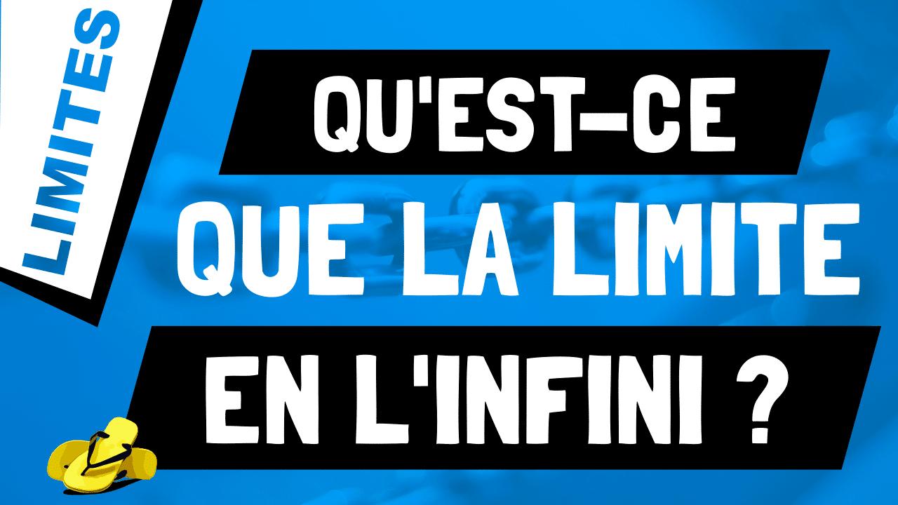 Qu'est-ce que la limite d'une fonction en l'infini ?
