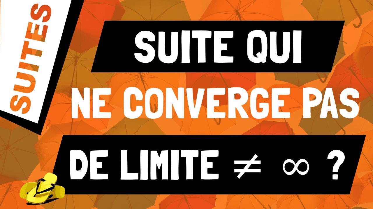 Quelle suite ne converge pas sans tendre vers l'infini ? Un exemple.