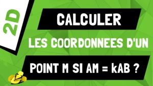 Comment calculer les coordonnées d'un point sur un segment ? AM = kAB