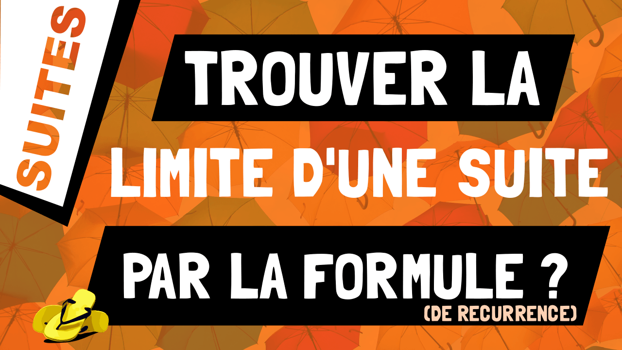 Comment calculer la limite d'une suite qui converge grâce à la formule de récurrence ?