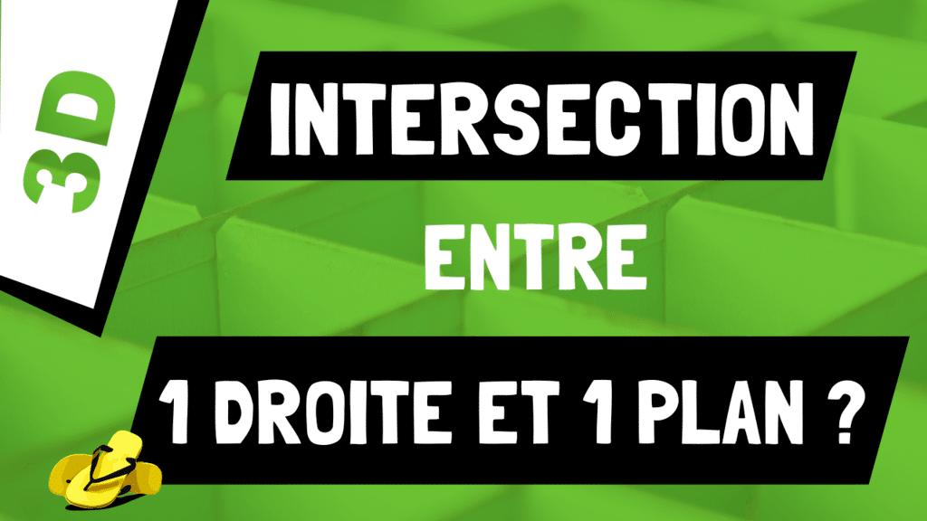 Comment calculer l'intersection entre une droite et un plan en 3D ?