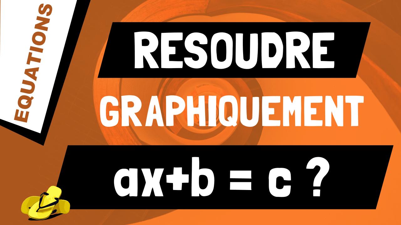 Comment résoudre graphiquement l'équation ax+b = c ?
