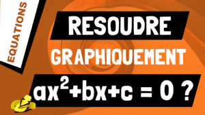 Comment résoudre graphiquement l'équation ax^2+bx+c = 0 ?
