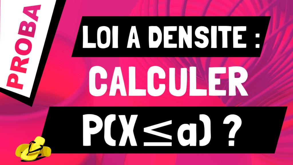 Comment calculer p(X