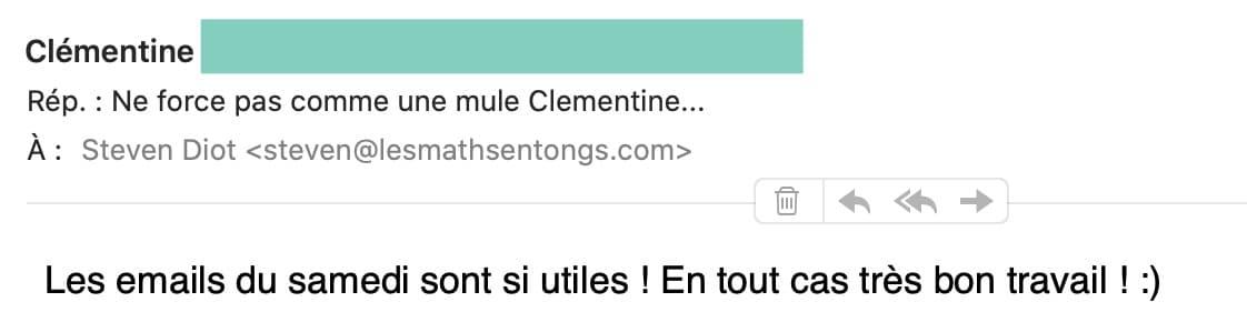 avis de Clémentine sur les Maths en Tongs