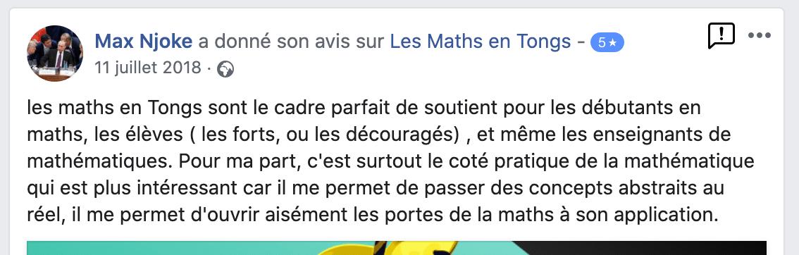 avis de Max sur les Maths en Tongs