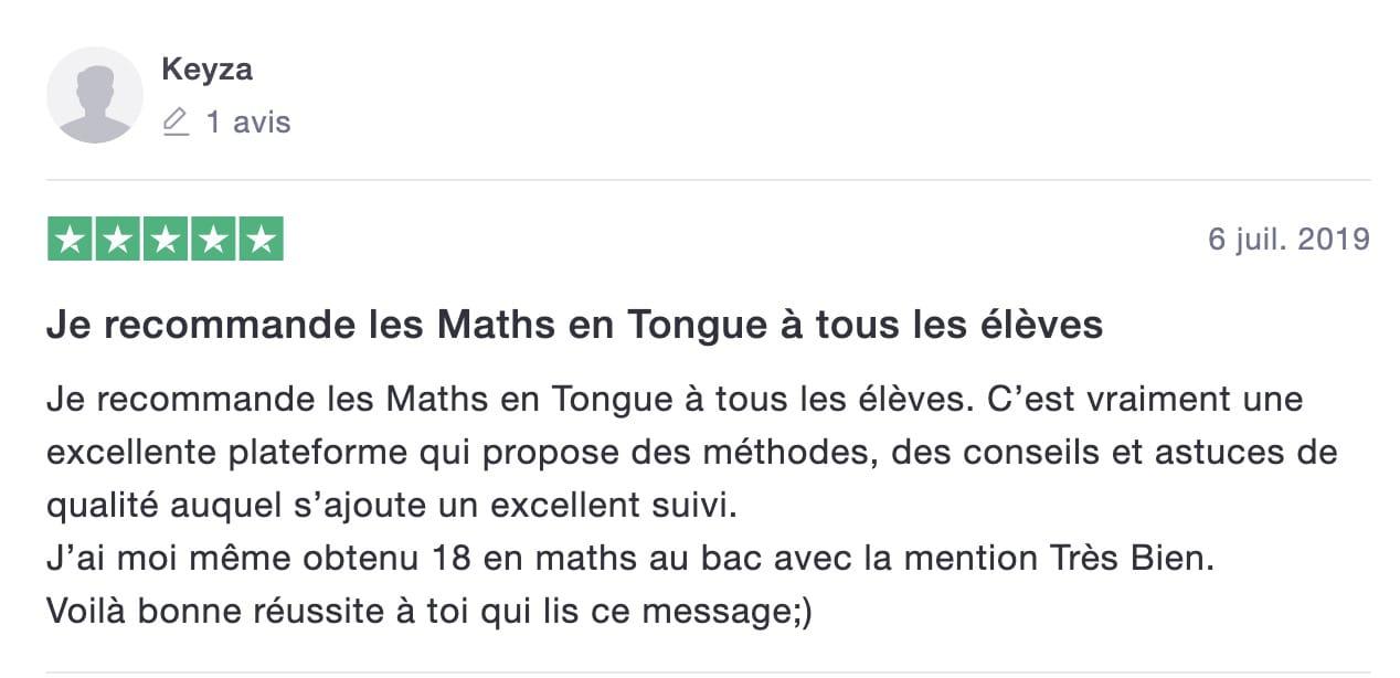 avis de Keyza sur les Maths en Tongs