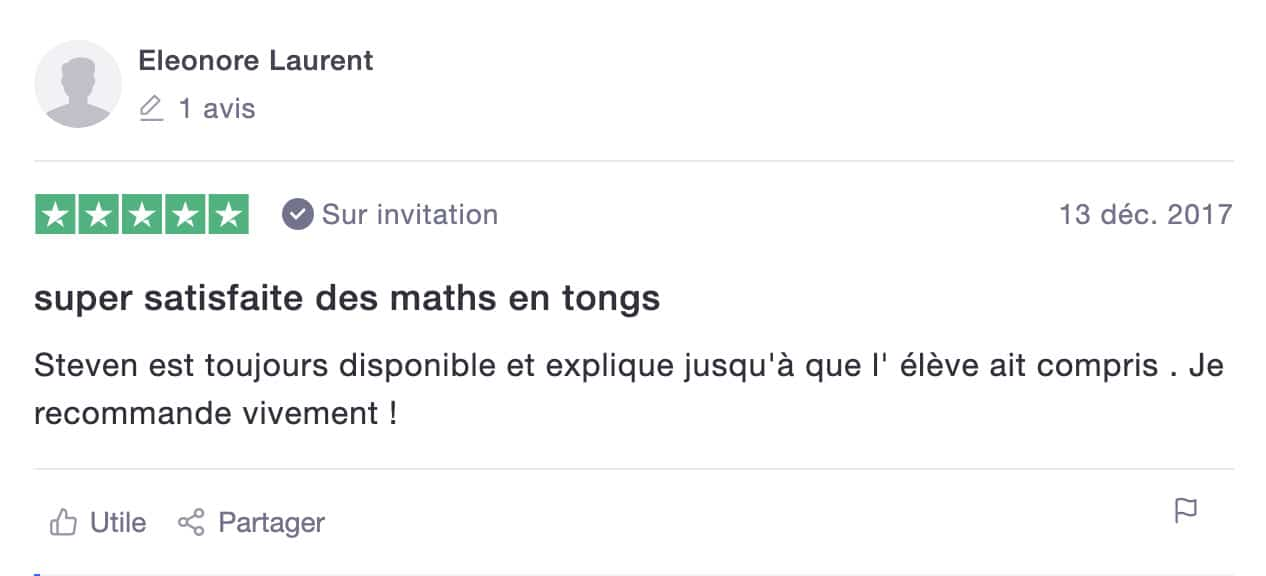 avis de Eleonore sur les Maths en Tongs