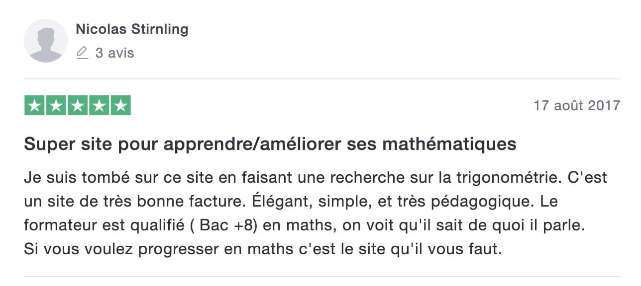 avis de Nicolas sur les Maths en Tongs