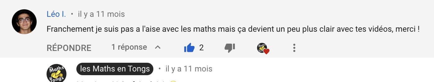 avis de Léo sur les Maths en Tongs