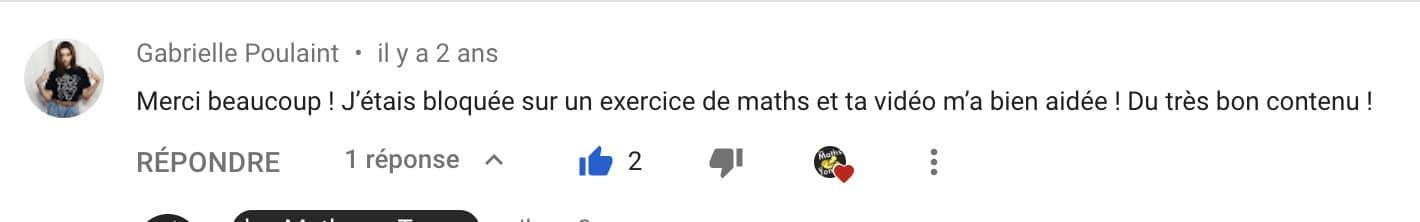avis de Gabrielle sur les Maths en Tongs